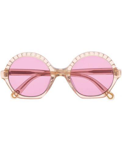 Złote okulary khaki Chloé Kids