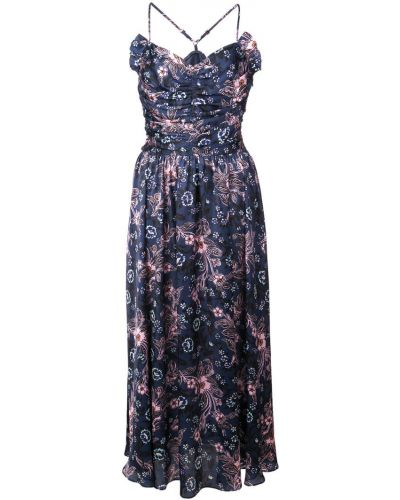 Приталенное платье миди на бретелях Jill Stuart