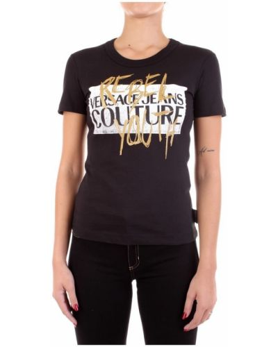 T-shirt bawełniany z printem Versace Jeans Couture