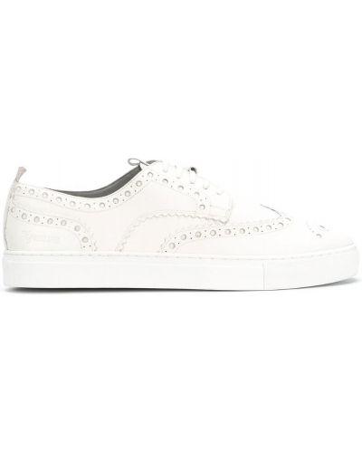 Кожаные кроссовки - белые Grenson