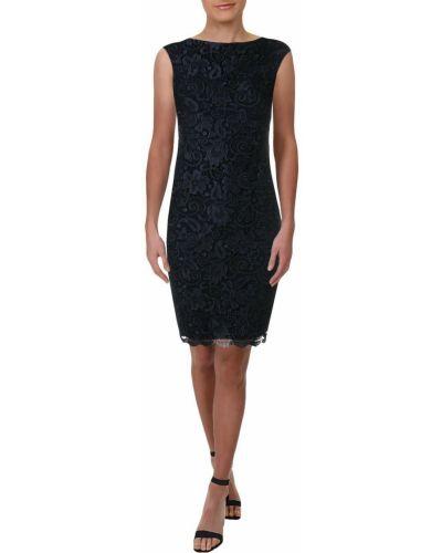 Вечернее платье без рукавов - синее Polo Ralph Lauren