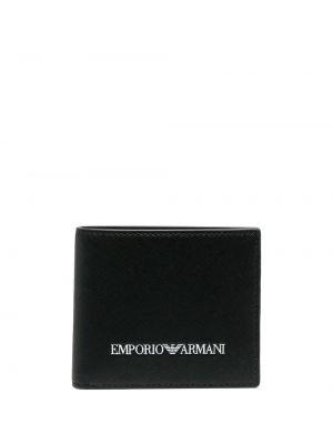 Portfel z printem - biały Emporio Armani