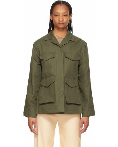 Зеленая куртка длинная Toteme