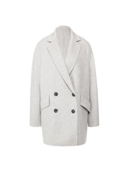Пальто серое шерстяное Joseph