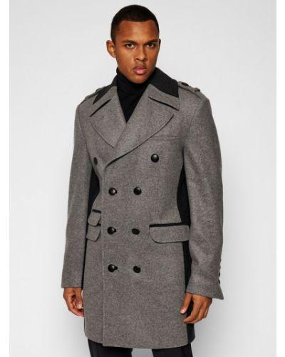 Szary płaszcz wełniany Rage Age