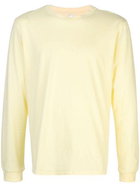 Żółty t-shirt z długimi rękawami bawełniany Cottweiler
