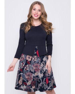Деловое платье с баской платье-сарафан Diolche