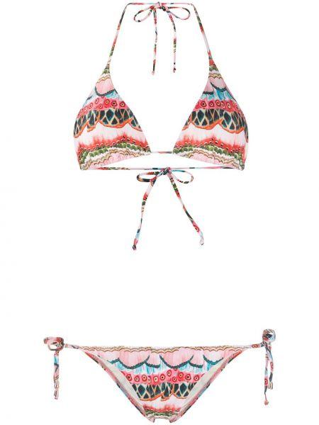 Розовые бикини с вырезом с завязками с чашками Cia Marítima