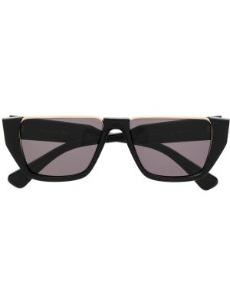Прямые муслиновые черные солнцезащитные очки Christian Roth