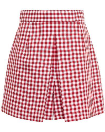 Хлопковые красные шорты на крючках Michael Kors Collection