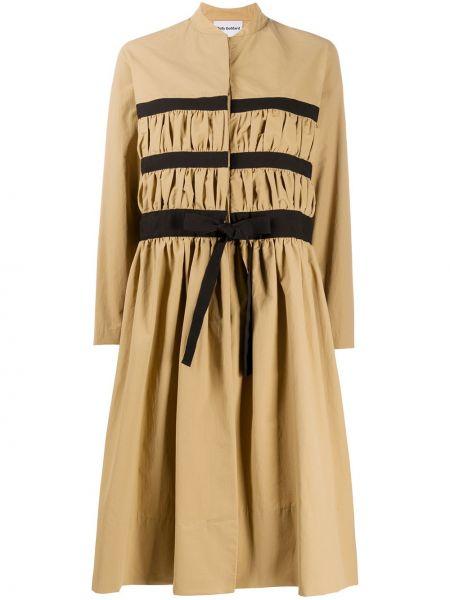 Платье миди макси с отложным воротником Molly Goddard