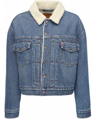 С рукавами синяя джинсовая куртка с подкладкой Levi's Red Tab