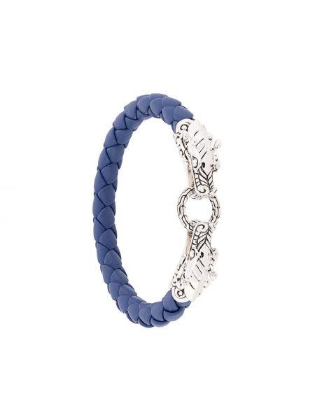 Кожаный синий кожаный браслет John Hardy