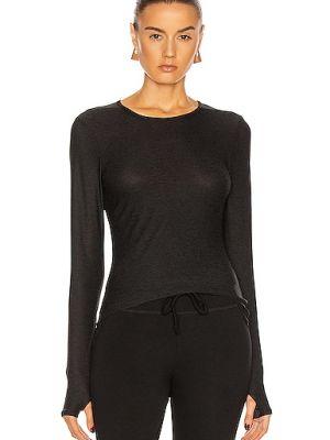 Текстильный черный пуловер с воротником Beyond Yoga