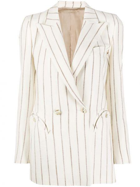 С рукавами шелковая куртка с манжетами на пуговицах Blazé Milano