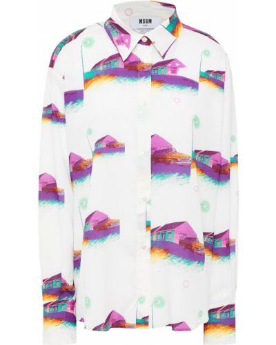 Biała włoska koszula Msgm