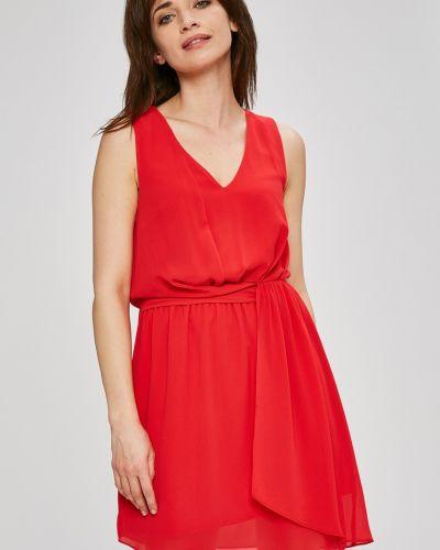 Платье мини с V-образным вырезом с поясом Morgan