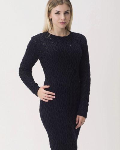 Платье осеннее синее Nataclub