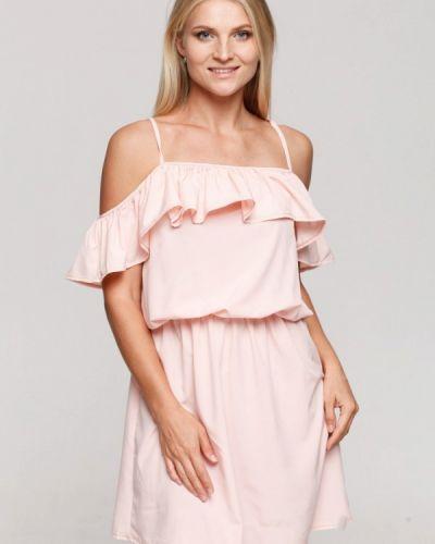 Платье розовое осеннее Karree