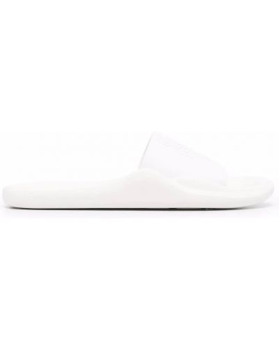 Белые резиновые шлепанцы Kenzo
