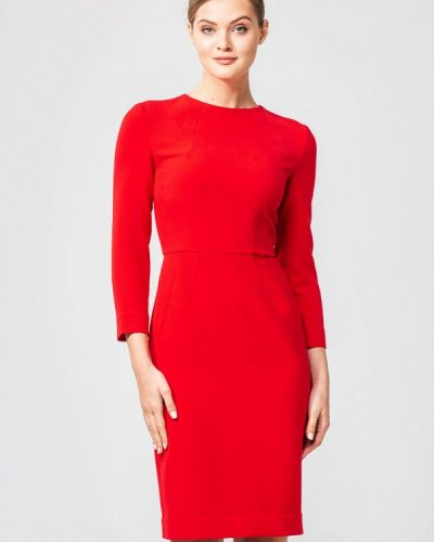 Платье осеннее красный Nai Lu-na By Anastasia Ivanova