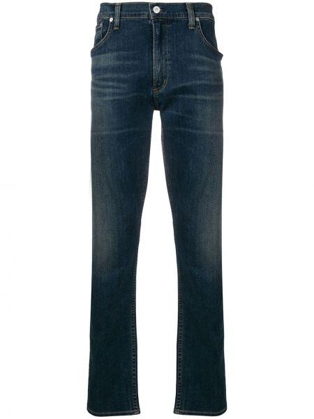 Niebieskie jeansy bawełniane z paskiem Citizens Of Humanity