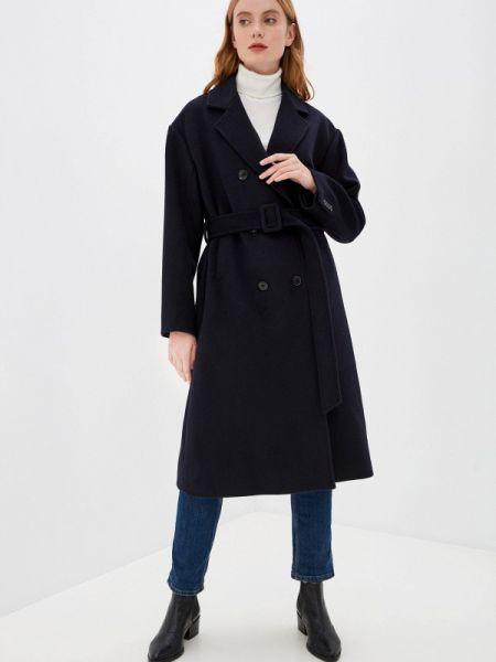 Синее пальто с капюшоном Mezzatorre