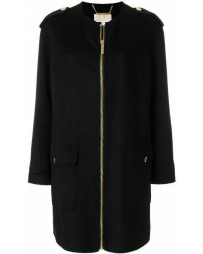 Белое пальто с капюшоном с воротником Michael Michael Kors