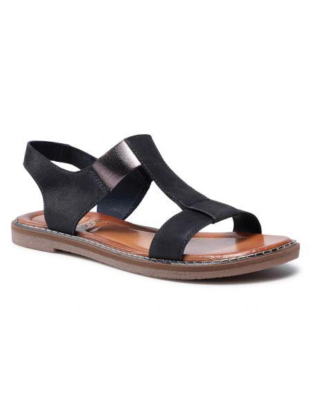 Niebieskie sandały skorzane Lasocki