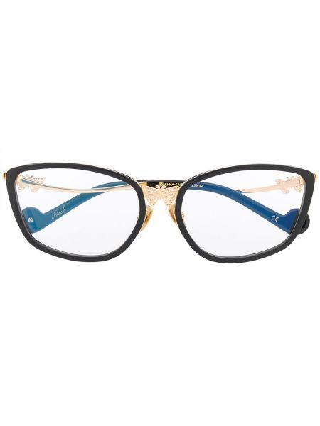 Золотистые черные солнцезащитные очки металлические прозрачные Anna Karin Karlsson