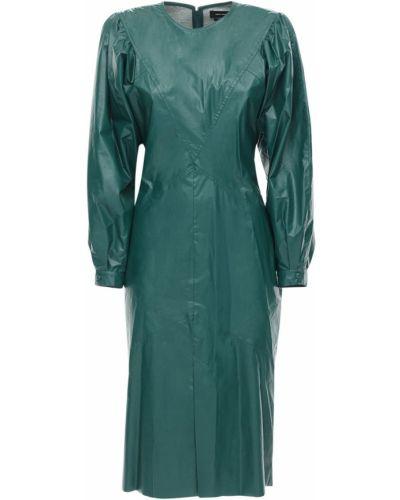 Кожаное платье - зеленое Isabel Marant