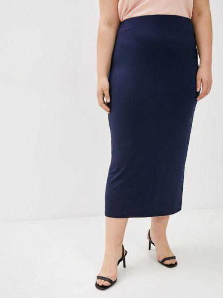 Синяя прямая юбка карандаш Evans