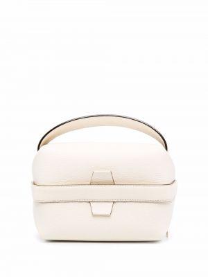 Biała torebka skórzana Valextra