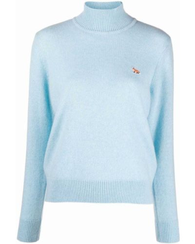 Джемпер с вышивкой - синий Maison Kitsuné