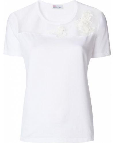 Белая футболка прямая Red Valentino