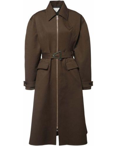Ватное зеленое пальто с карманами Bottega Veneta