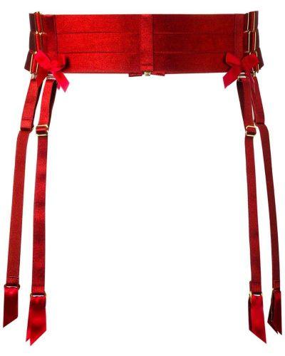 Красные чулки с поясом Bordelle