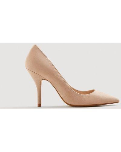 Розовые туфли на высоком каблуке Mango