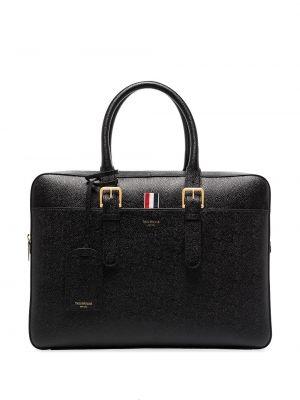 Черный кожаный портфель Thom Browne