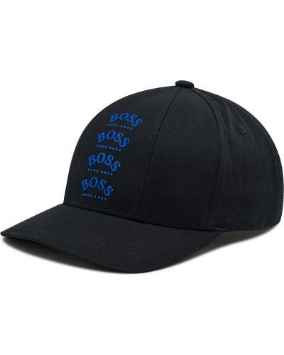 Czarna czapka z daszkiem Boss
