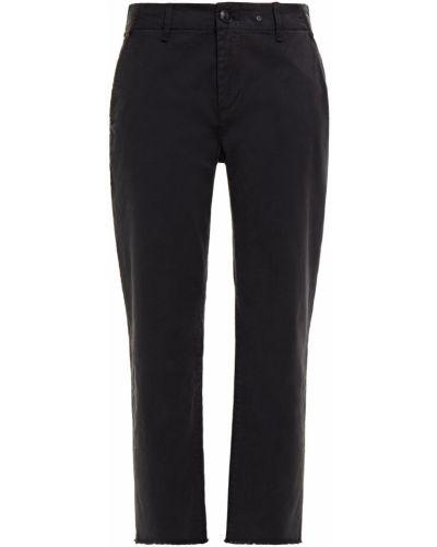 Czarne spodnie bawełniane z paskiem Rag & Bone