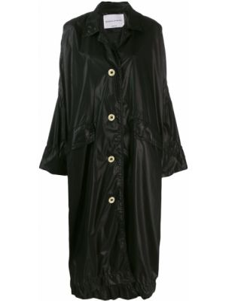 Черное пальто оверсайз с капюшоном Sonia Rykiel