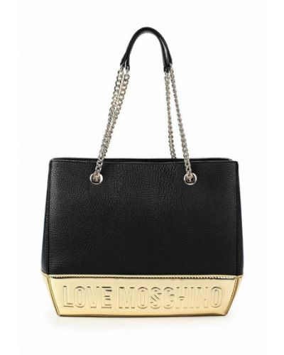 Черная сумка с ручками Love Moschino
