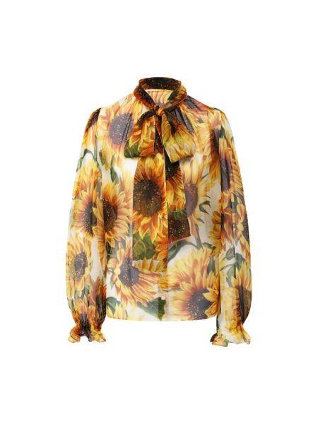 Блузка с бантом с широкими рукавами Dolce & Gabbana