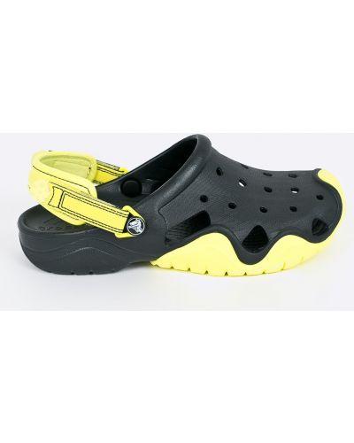Черные сандалии резиновые Crocs