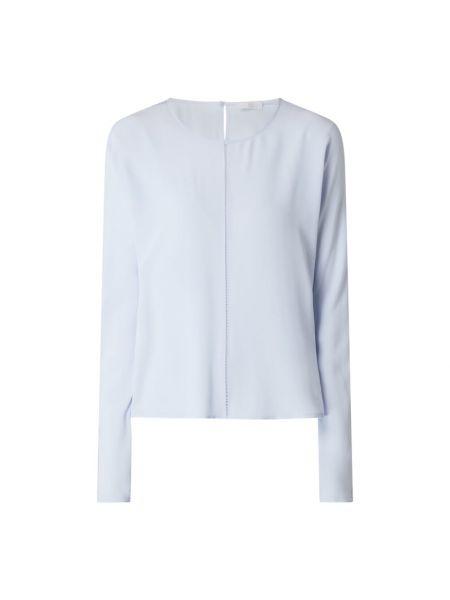 Niebieska bluzka z długimi rękawami z jedwabiu Riani