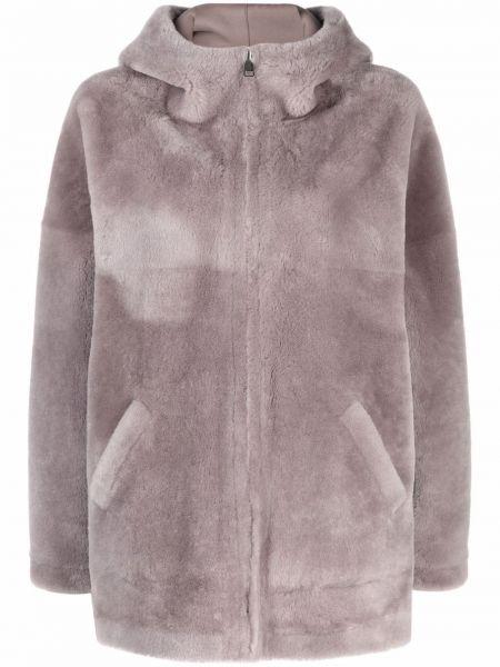 Серая куртка длинная Blancha