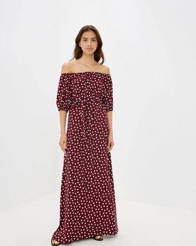 Платье бордовый с открытыми плечами Maison De La Robe