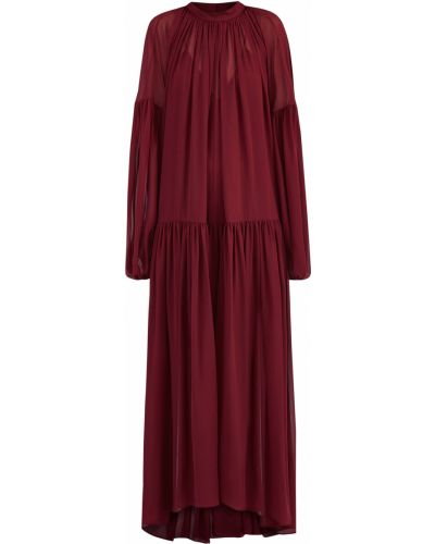 Платье макси на пуговицах шелковое Stella Mccartney