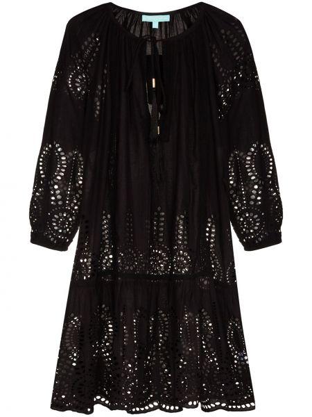 Хлопковое черное платье Melissa Odabash